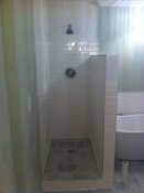 custom shower using Schluter systems