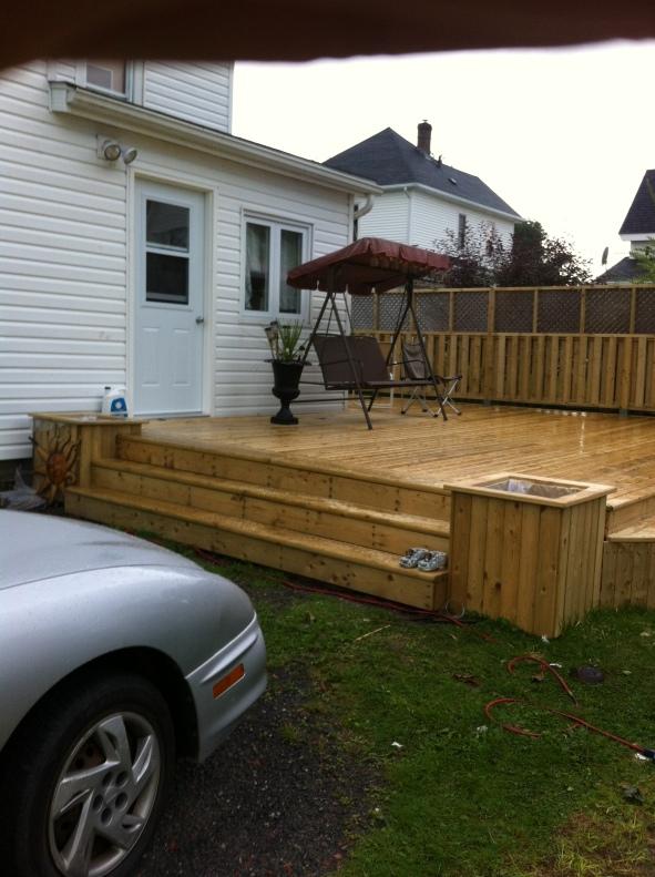 custom wrap-around deck
