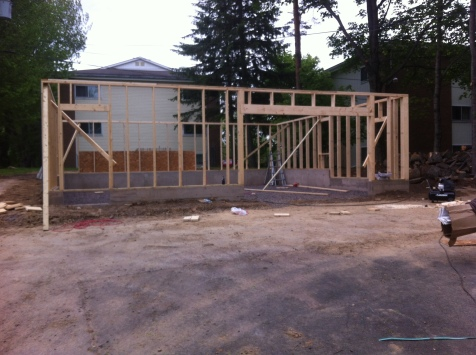 Garage/shop during framing