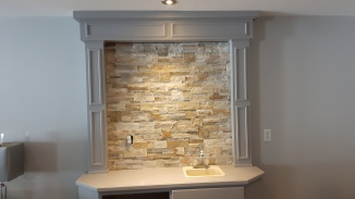 stone veneered bar