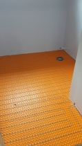 tile floor with ditra-heat