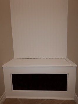 built-in storage bench