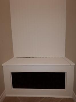 built-in storage bench